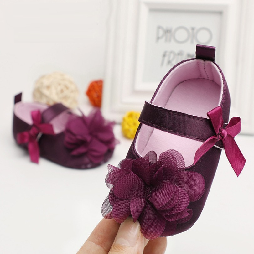 Baby girls shoes newborn Slip-On first walker Skid-Proof princess for bebe flower moccasins soft sole crib shoes spring cute new