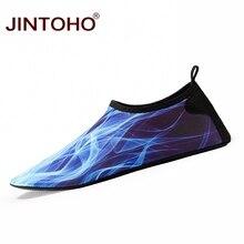 Лето jintoho водонепроницаемая обувь мужская обувь для плавания Aqua пляжная обувь большого размера плюс кроссовки для мужчин полосатые цветные zapatos hombre