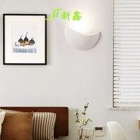 Novo LED simples semicírculo lua modern alumínio lâmpada de parede corredor corredor sala de estar decoração da parede da lâmpada de engenharia luz|Luminárias de parede| |  -