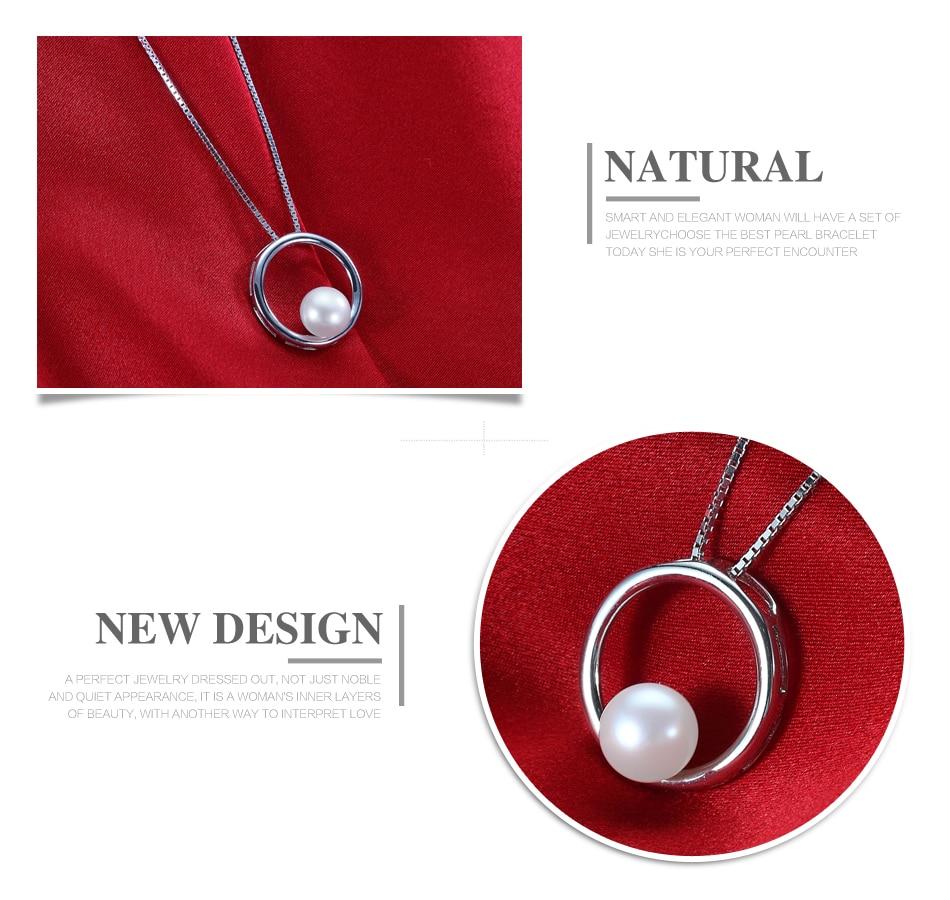 Klassische Einfache Natürliche Perle Anhänger Halsketten für - Edlen Schmuck - Foto 3