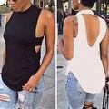 Горячая Сексуальная Женская Мода Лето Жилет Топ Без Рукавов Блузка Повседневная Топы Рубашка