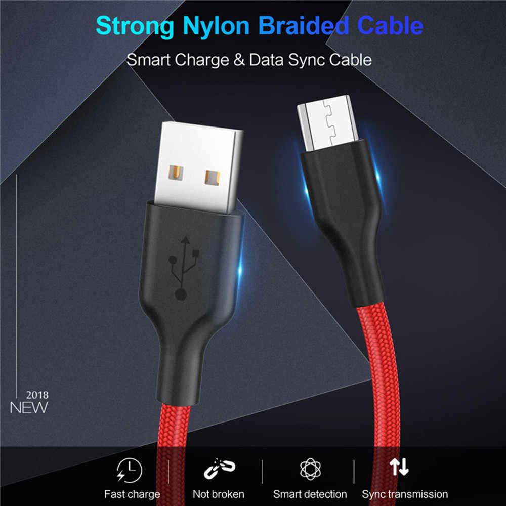 Mikro USB kablosu Xiaomi Redmi için not 5 4 hızlı şarj Microusb şarj kablosu Samsung not 5 için J5 J6 j7 Android telefon kabloları