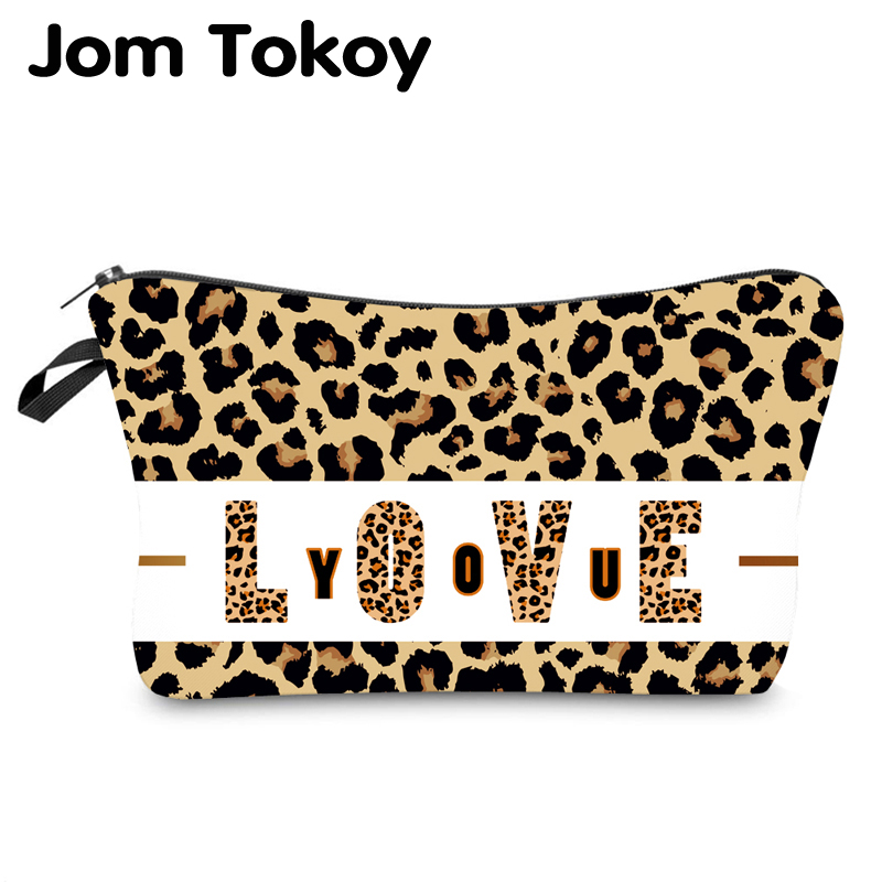 Jom Tokoy Water Resistant Makeup Bag Printing Leopard Cosmetic Bag Organizer Bag Women Multifunction Beauty Bag Hzb971