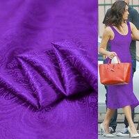 Paisley Jacquard Silk Satin Fabric Evening Gown Textile 100cm*114cm