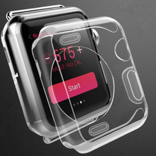 New TPU soft Watch Case Cover For Apple Watch iWatch 1 2 3 4 generation 38mm 42mm 40mm 44mm Ultra Slim Case Clear Transparent