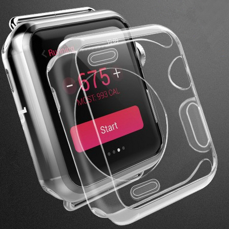 New TPU soft Watch Case Cover For Apple Watch iWatch 1 2 3 generation 38mm 42mm Ultra Slim Protector Case Clear Transparent series 1 2 3 soft silicone case for apple watch cover 38mm 42mm fashion plated tpu protective cover for iwatch