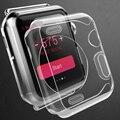 Nova tpu macio tampa da caixa do relógio para apple watch iwatch 1 geração 38mm 42mm ultra fino protector caso claro transparente