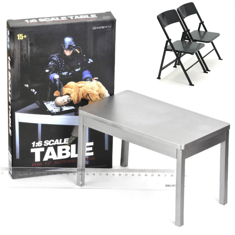 Analytical 1/6 Scale Furniture Table Desk Folding Chair For 12 Inch Action Figure Solider Dolls Toys Decor New Action & Toy Figures