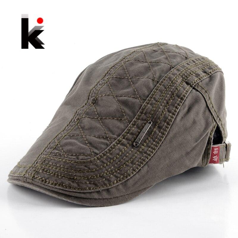2017 Männer Barette Boina Mode Hut Masculina Plaid Stil Gorro Casual Hüte Baumwolle Boinas Einfarbig Baskenmütze Für Männer Kappe 5 Farben Modische Und Attraktive Pakete