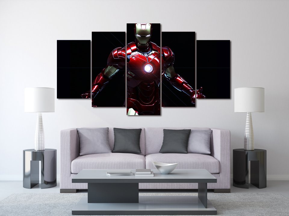 HD Printed Iron Man Movie Painting On Canvas Room Decoration Print Poster  Picture Canvas No Frame In Painting U0026 Calligraphy From Home U0026 Garden On ...