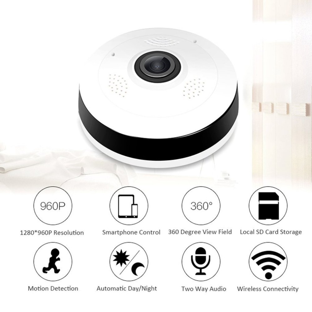 LESHP Professional 360 Degree VR Panorama Camera HD 960P Wireless WIFI IP Camera Home Indoor Security Surveillance Video Camera цена и фото