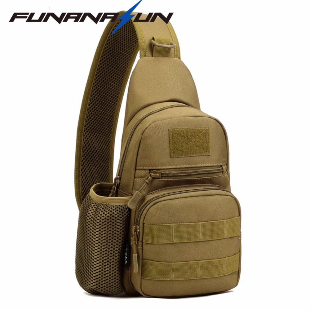 Tactical Molle Portable Bag Military Crossbody Chest Pack Shoulder Sling  Waterproof Backpack for Hiking Cycling Climbing Camping-in Climbing Bags  from ... aeef395a061c4