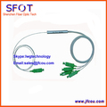 FTTH 1*4  Fiber Optic PLC Splitter, Steel Tube type, with SC/APC connectors, 0.9mm, 1M, For GPON EPON