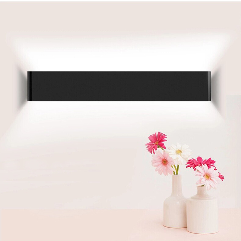 Фотография Black/White/Silver 8W 12W 16W  Modern Aluminum LED Wall Lamps Restroom/Bathroom/Bedroom/Living Room Wall Lights  Free shipping