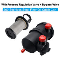 Oil Catch Can fit Hilux GU GQ Patrol ZD30 NAVARA D40 4WD Turbo Diesel Universal Oil Air Separator Stainless Filter