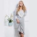 Mulheres Sleepwear Vestido Camisola Ocasional Desgaste Noite Das Senhoras 2017 Nova Moda Sleepwear Vestido