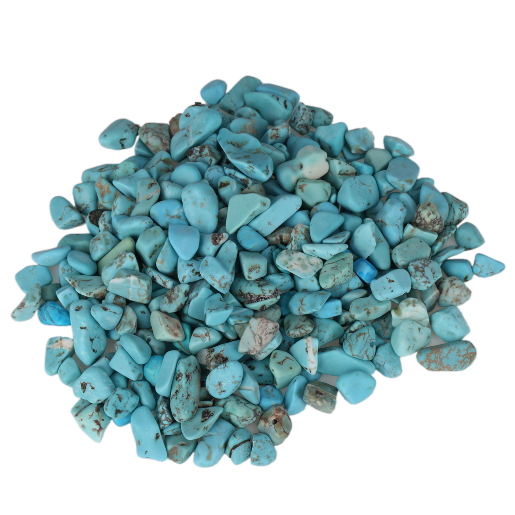 Decorative garden ornaments - 100g Turquoise Stone Natural Mineral Turquoise Stone Jewelry Degaussing Flowerpot Fish Tank Decoration Garden Ornaments