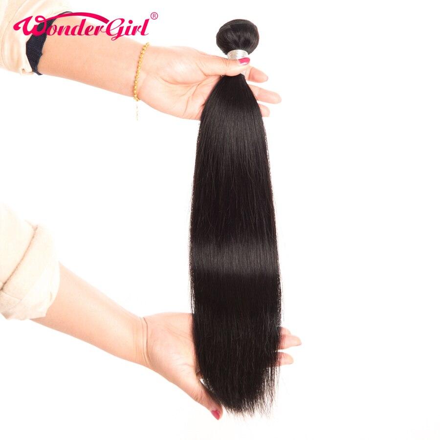Malaysian Straight Hair Extension 100% Remy Human Hair Bundles Can Buy 3/4 Bundles Natural Color/1B Straight Hair Wonder Girl