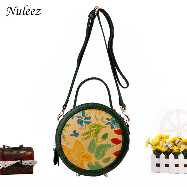 b5a324662a5a Nuleez genuine cowhide leather hand caving women tote-bag Chinese national  art of genuine leather bag 2018 summer new special