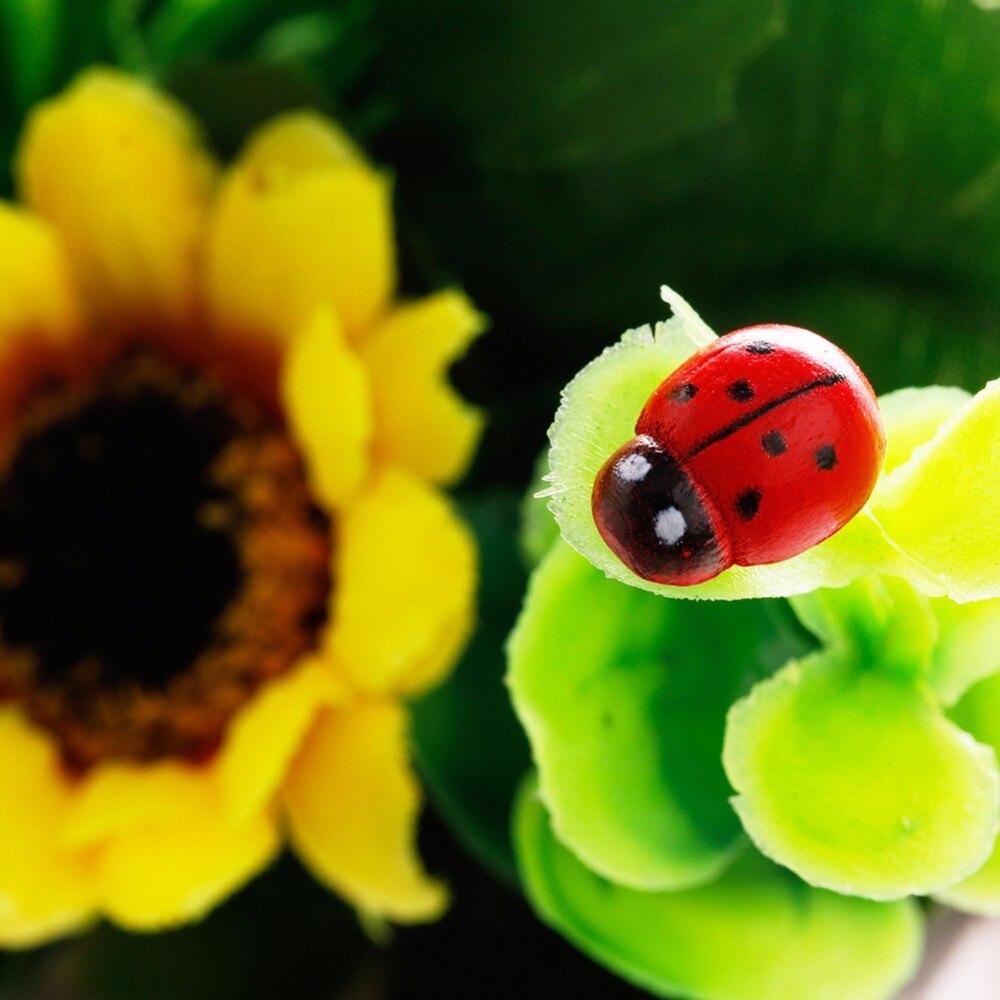 10Pcs Colorful Beetle Ladybug Sticker New Garden Ornament Figurine ...