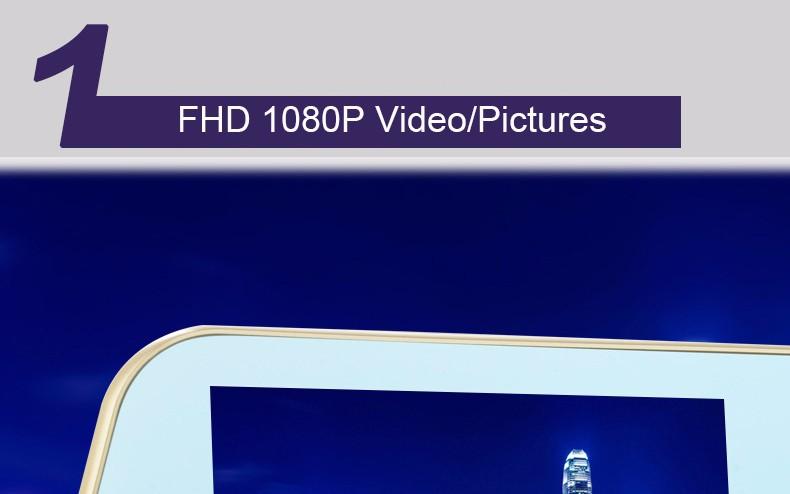 Jansite 1080P Car Dvr Blue Review Mirror Dual Lens Car Camera two cameras Loop record Recorder Auto Registrator Camcorder 8
