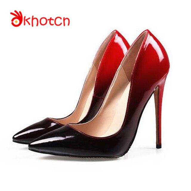 okhotcn zapatos mujer marca de lujo del dedo del pie puntiagudo 12