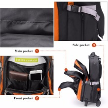 Aoking Travel Trolley Backpack Luggage Large Capacity Men's Trolley Bags Waterproof Luggage Carry-ons Wheel Bags