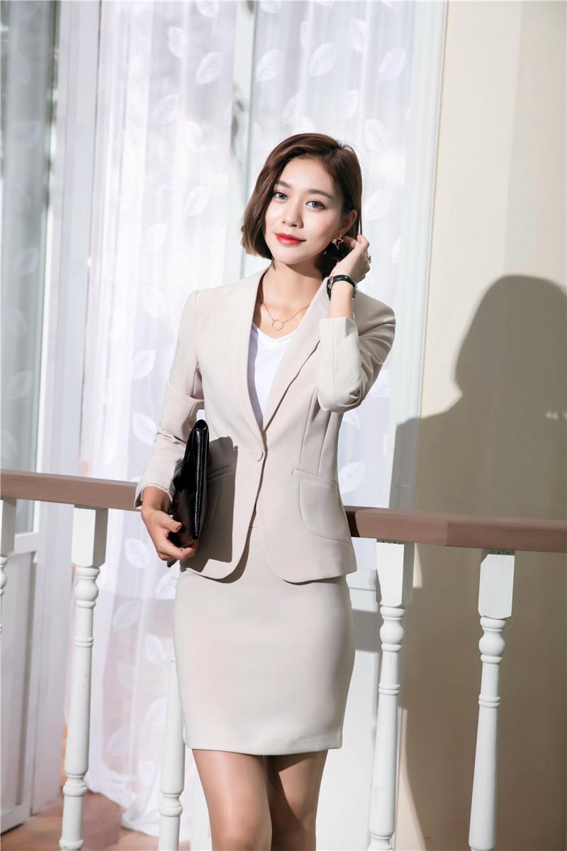 e05fe897473 2019 Wholesale New Style Office Uniform Designs Women Skirt Suits ...