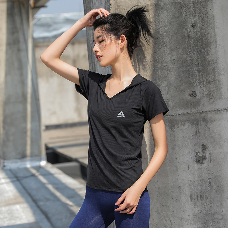 2018 Sport T-shirt For Women Gym Fitness Yoga Shirts, Breathable Elastic Quick Dry Yoga Running Tops Exercises