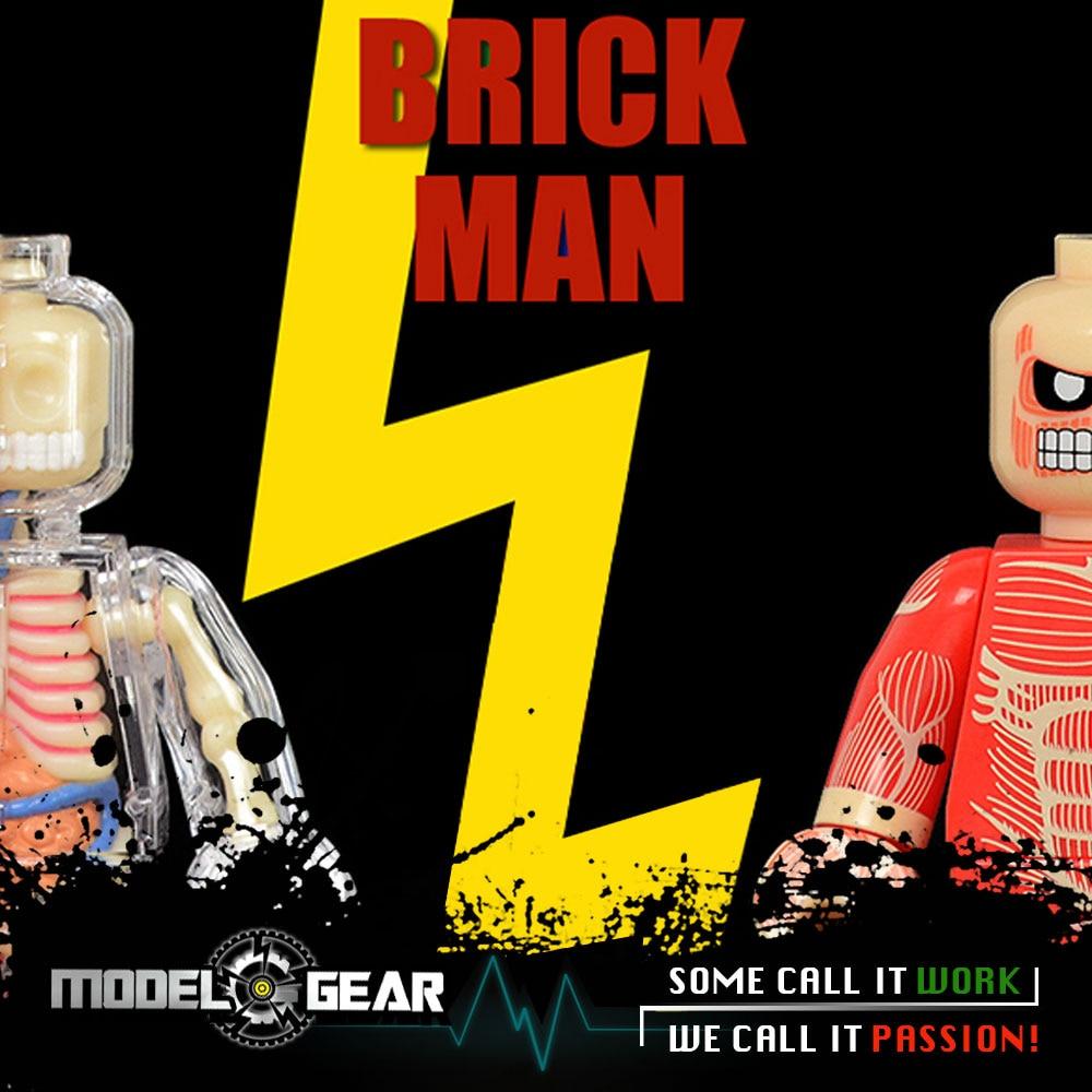 Brick man Jason Freeny 4D Master Skeleton Anatomy Model Building Blocks Action Figure Toy Science Educational