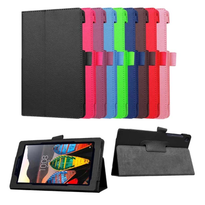 Hot litchi PU leather stand cover For Lenovo Tab 3 730 730F 730M 730X 7.0 tablet case for lenovo TB3-730F TB3-730M Magnet cover ultra thin folio flip case for lenovo tab 3 10 business tb3 x70f tb3 x70l tablet with stand hand wristband 10 1 inch