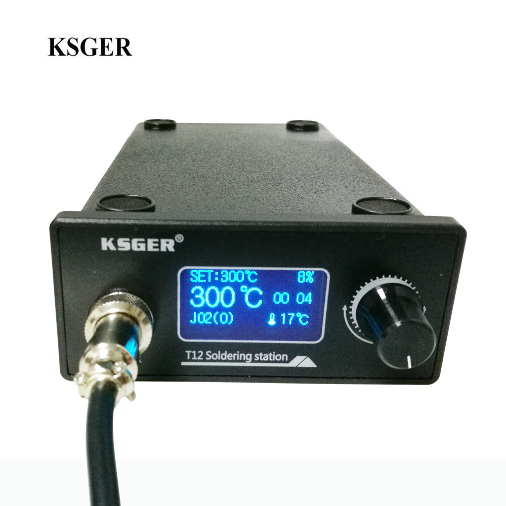 KSGER V2.01 STM32 OLED Digital Temperature Controller Electric Soldering Iron Soldering Station With T12-K Soldering Iron Tips