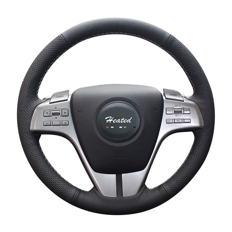 Nappa Leather Car Steering Wheel Cover for Mazda 6 Atenza 2009-2013 year Braid on the steering wheel diameter 38cm new universal braid on the steering wheel car steering wheel cover for renault megane 2 3 for mazda 3 6