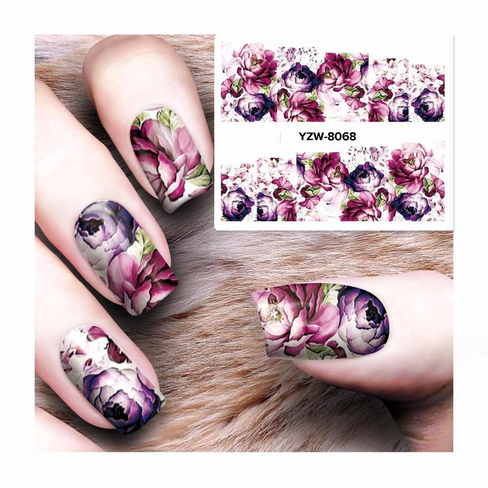 FWC Nail Sticker Water Adhesive Foil Nail Art Decorations Tool Water Decals 3d Design Nail Sticker Makeup 8068