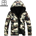 2016 New Men Zipper Casual Jacket Fashion Printed Camouflage Jackets Men's Hooded Coat Korean Slim Fit Man Winter Down Coat M400