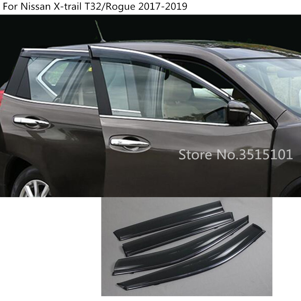 DARK TINTED WINDOW VISOR//WIND DEFLECTOR VENT RAIN SHADE FOR 07-13 MIT OUTLANDER