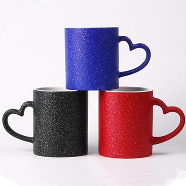 Creative Office Coffee Mug With Heart Shaped Handle Kids Ceramic Mugs For Water Milk Tea