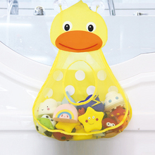 Baby Bathtub Toy Mesh Duck Storage Bag Organizer Holder Bathroom Folding Mesh Storage Toy for children Baby Gift
