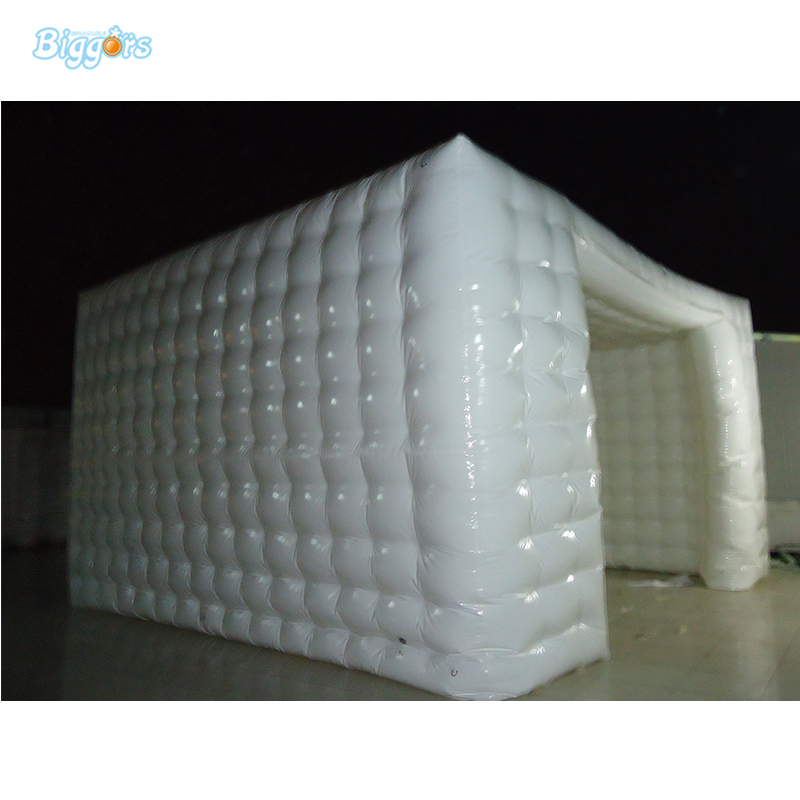 Pure White Tent Inflatable Cubic Cube Tent Exhibition Or Party Event Tent free shipping lighting large inflatable spider tent for party event exhibition rental