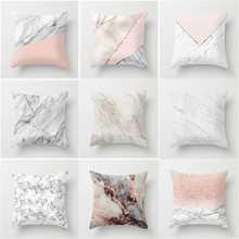 Geometric Cushion cover 45x45cm Marble Texture Throw Pillow Case Cushion Cover For Sofa Home Decor цены