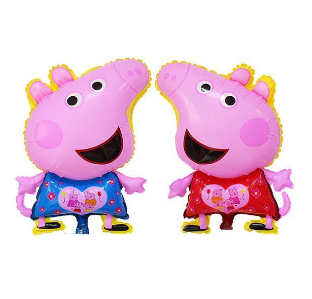 Foil Globos De Dibujos Animados De Color Rosa Cerdo Cerdo Lindo Para