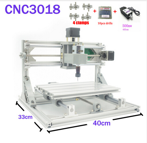 CNC 3018 ER11 GRBL Control Diy CNC Machine 3 Axis pcb Milling Machine Wood Router Laser Engraving with 405nm 500mW Laser Module daniu 3018 3 axis grbl control 500mw laser diy cnc router milling engraving machine working area 30x18x40cm