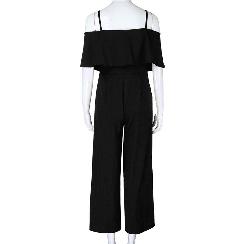 Jumpsuit Summer Women Long 2018 New Brand Hollow Out Bodysuits Sexy Clubwear Wide Legs Pants Elegant Jumpsuit combinai #J08 (23)
