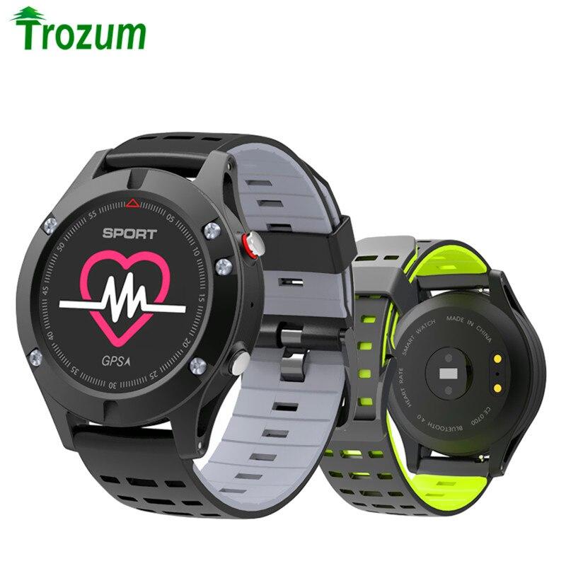 TROZUM No 1 F5 GPS Montre Intelligente Altimètre Baromètre Thermomètre Bluetooth 4.2 Smartwatch appareils portables pour le Téléphone Androïde d'ios