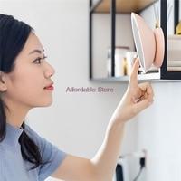 LED Light Makeup Mirror Desktop Wall Mounted Hand Pocket Makeup Mirror Lighting Magnetic Mirror Dressup Rechargeable