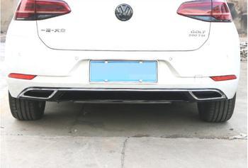 Lèvre noire de pare-chocs arrière de voiture de peinture d'abs de JIOYNG, diffuseur arrière de voiture automatique convient pour Volkswagen Golf 7 2018