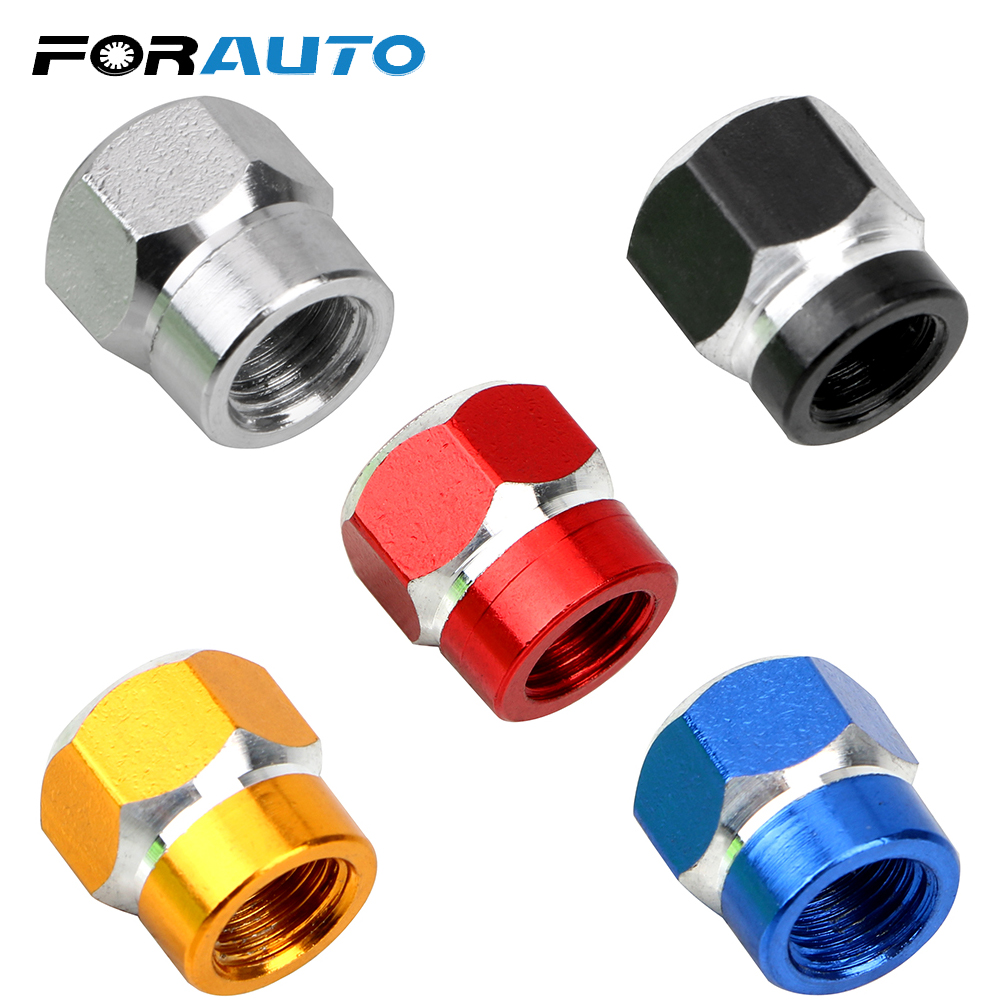 FORAUTO Nuts & Bolts Auto Motorcycle Airtight Stem Auto Accessories Bike Air Caps Vehicle Wheel Tire Valve Stem Caps Dust Covers