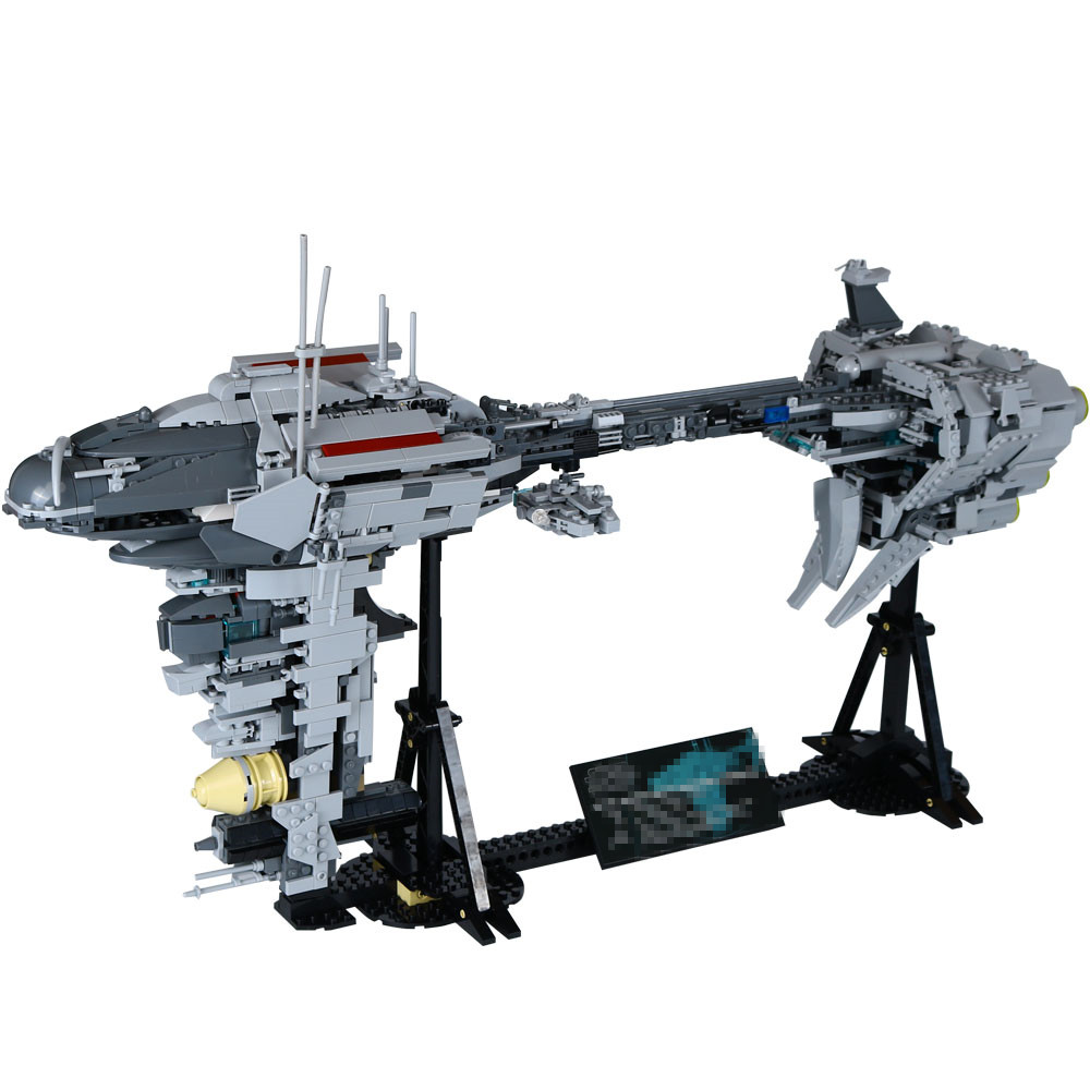 1736pcs Diy model The Nebulon-B Medical Frigate Star Wars Blocks Compatible With Legoingly Brick Toys For Children Brithday gift