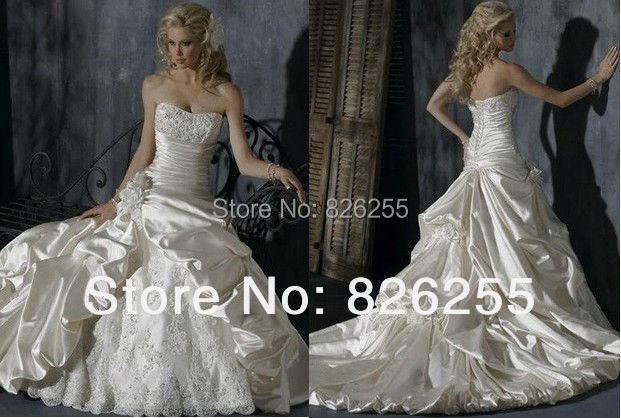 Ivory Ball Gown Wedding Dress: Ready For Sale Free Shipping Popular White/Ivory Lace