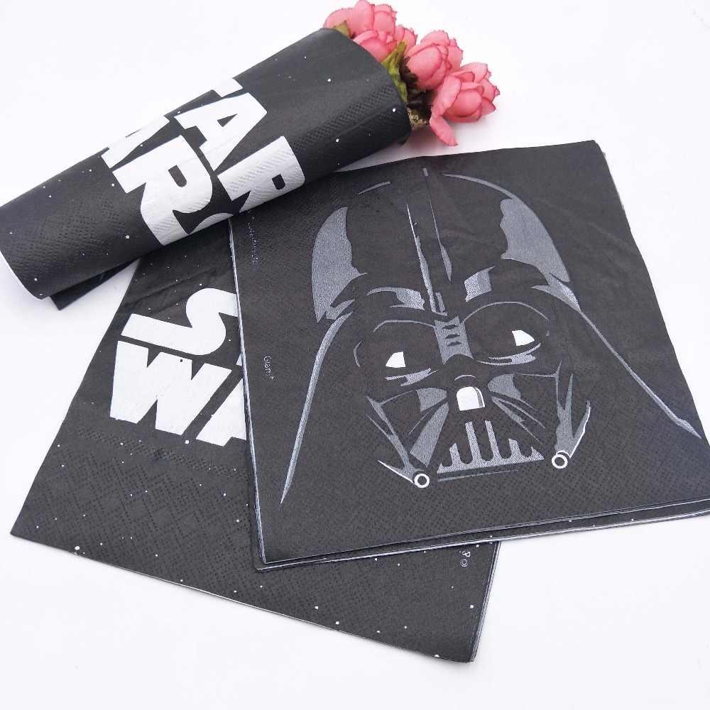 20pcs Star War Party Supplies Disposable Paper Napkins Baby Shower Chirdren